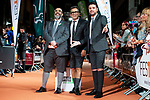 Bob Pop, Andreu Buenafuente and Miguel Maldonado attends to orange carpet of new comedian schedule of #0 during FestVal in Vitoria, Spain. September 06, 2018 (ALTERPHOTOS/Borja B.Hojas)