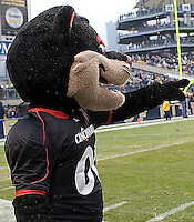 Cincinnati mascot. The Cincinnati Bearcats defeated the Pittsburgh Panthers 45-44 in the final seconds of the River City Rivalry in a contest for the Big East Championship and a major bowl bid on December 5, 2009 at Heinz Field, Pittsburgh, Pennsylvania. .