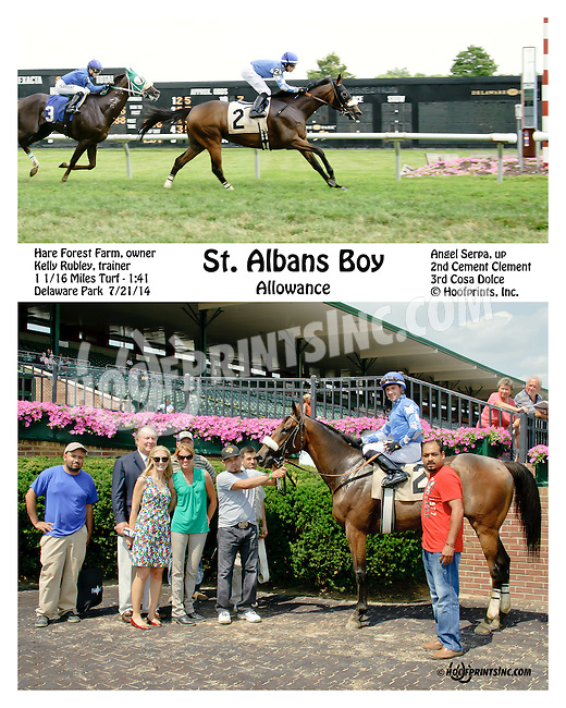 St Albans Boy winning at Delaware Park on 7/21/14