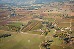 Cooper Vineyards California's Shenandoah Valley during autumn from the air.