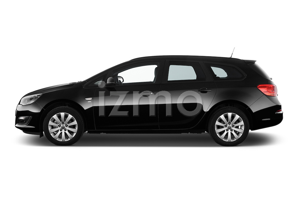 Car Driver side profile view of a 2015 Opel ASTRA Enjoy 5 Door Wagon 2WD Side View