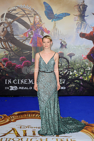 LONDON, ENGLAND - MAY 10: Mia Wasikowska attending the 'Alice Through The Looking Glass' European Premiere at Odeon Cinema, Leicester Square in London. on May 10, 2016 in London, England.<br /> CAP/MAR<br /> &copy; Martin Harris/Capital Pictures /MediaPunch ***NORTH AND SOUTH AMERICA ONLY***