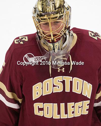 Ryan Edquist (BC - 35) - The Harvard University Crimson defeated the visiting Boston College Eagles 5-2 on Friday, November 18, 2016, at the Bright-Landry Hockey Center in Boston, Massachusetts.