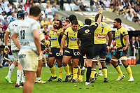 Players of Clermont celebrate during the Top 14 semi final match between Racing 92 and Clermont Auvergne at Orange Velodrome on May 27, 2017 in Marseille, France. (Photo by Alexandre Dimou/Icon Sport)