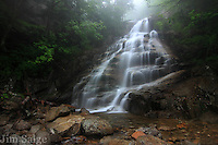 A rainy hike up to Cloudland Falls in Franconia Notch, NH revealed a perfect misty atmosphere.
