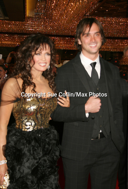 Marie Osmond and son - Red Carpet - 37th Annual Daytime Emmy Awards on June 27, 2010 at Las Vegas Hilton, Las Vegas, Nevada, USA. (Photo by Sue Coflin/Max Photos)