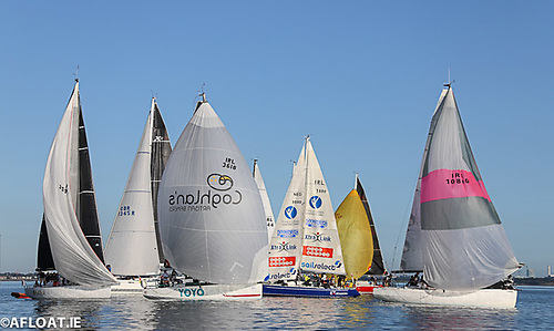 ISORA Race Start at Dun Laoghaire Harbour