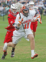 University of Virginia men's lacrosse player George Huguely (11) plays against Maryland March 3, 2009 at Klockner Stadium in Charlottesville, VA.  George Huguely, 22, a fourth-year student from Chevy Chase, Md., has been charged with first-degree murder in the death of UVa women's lacrosse player Yeardley Love, 22, a fourth-year student from Cockeysville, Md., that took place early Monday morning May 3, 2010 in Charlottesville, Va. Photo/Andrew Shurtleff