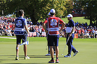 JB Holmes (Team USA) during Sunday Singles matches at the Ryder Cup, Hazeltine National Golf Club, Chaska, Minnesota, USA. 02/10/2016<br /> Picture: Golffile | Fran Caffrey<br /> <br /> <br /> All photo usage must carry mandatory copyright credit (&copy; Golffile | Fran Caffrey)