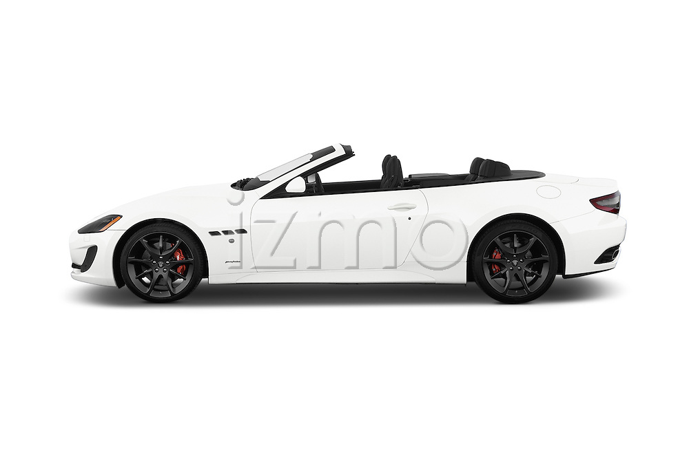 Car Driver side profile view of a 2017 Maserati GranTurismo Convertible Sport Door convertible Side View