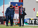 28.04.18 Hamilton v Ross County: Georgios Sarris hobbles off the park but is then told to get back on