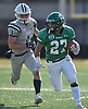Dominic Ciaccio #27 of Farmingdale gains 24 yards for a first down during the first quarter of the Nassau County football Conference I semifinals against Oceanside at Shuart Stadium in Hempstead on Saturday, Nov. 10, 2018.