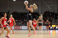 07.02.2017 Shannon Francois in action during the Wales v Silver Ferns netball test match at Swansea University at Ice Arena Wales. Mandatory Photo Credit ©Ian Cook/Michael Bradley Photography.