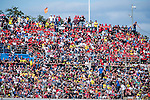 VALENCIA, SPAIN - NOVEMBER 11: Moto GP fans during Valencia MotoGP 2016 at Ricardo Tormo Circuit on November 11, 2016 in Valencia, Spain