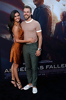 "LOS ANGELES - AUG 21:  Hayley Erbert, Derek Hough at the ""Angel Has Fallen"" Premiere at the Village Theater on August 21, 2019 in Westwood, CA"