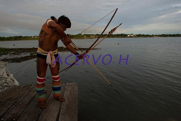 XI Jogos indígenas.<br /> Camaiurá do Xingu no MT.<br /> Porto Nacional, Tocantins, Brasil.<br /> Foto Paulo Santos.<br /> 07/11/2011.