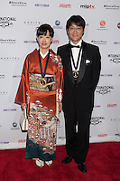 NEW YORK, NY - NOVEMBER 19: Kotaro Komori and Katsuko Hara at the 40th International Emmy Awards in New York. November 19, 2012. © Diego Corredor/MediaPunch Inc. /NortePhoto