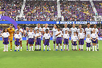 Orlando, FL - Saturday July 20, 2019:  Sky Blue FC Startng XI during a regular season National Women's Soccer League (NWSL) match between the Orlando Pride and the Sky Blue FC at Exploria Stadium.
