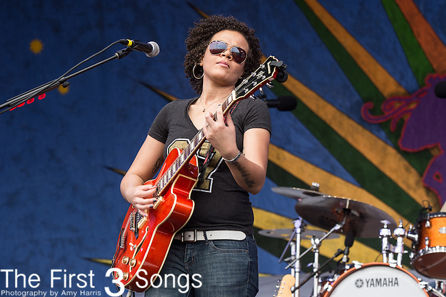 Mia Borders performs during the 2015 New Orleans Jazz & Heritage Festival in New Orleans, Louisiana.
