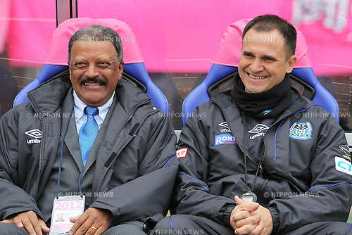 (L to R)  Serrao, Wagner Lopes Head coach (Gamba), .MARCH 17, 2012 - Football / Soccer : .2012 J.LEAGUE Division 1, 2nd sec match between Cerezo Osaka 2-1 Gamba Osaka at Nagai Stadium in Osaka, Japan. (Photo by Akihiro Sugimoto/AFLO SPORT) [1080]