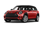 Stock pictures of low aggressive front three quarter view of a 2020 Mini Clubman S 5 Door Wagon