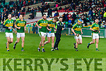 Kerry players after being defeated by Limerick in the Munster Hurling League Round 4 at the Gaelic Grounds, Limerick on Sunday.