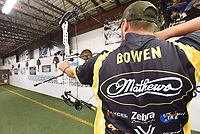 NWA Democrat-Gazette/FLIP PUTTHOFF <br /> Practice has made Bowen one of the nation's best target archery shooters.
