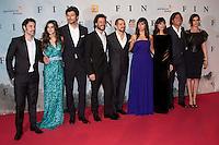 """ATENCAO EDITOR IMAGEM EMBARGADA PARA VEICULOS INTERNACIONAIS - MADRI, ESPANHA, 20 NOVEMBRO 2012 - PRE ESTREIA FIN - Elenco durante pre estreia de """"FIN"""" no Callao Cinema em Madri capital da Espanha nesta terca-feira, 20. (FOTO: CESAR CEBOLA / ALFAQUI / BRAZIL PHOTO PRESS)."""