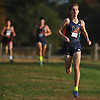 Aidan Caggiano of Manhasset legs out a win in the Nassau County boys cross country Class A state qualifier at Bethpage State Park on Saturday, Nov. 4, 2017. He finished the 5K race with a time of 16:24.21.