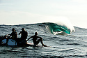 Mitch Rawlins, James and Jake Stoner at Cyclops in Esperance, Western Australia.