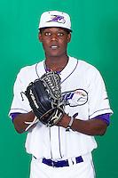 Winston-Salem Dash pitcher Euclides Leyer (16) poses for photos during Media Day at BB&T Ballpark on April 1, 2014 in Winston-Salem, North Carolina (Brian Westerholt/Four Seam Images)