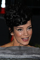 "NEW YORK CITY, NY, USA - MAY 05: Lily Allen at the ""Charles James: Beyond Fashion"" Costume Institute Gala held at the Metropolitan Museum of Art on May 5, 2014 in New York City, New York, United States. (Photo by Xavier Collin/Celebrity Monitor)"