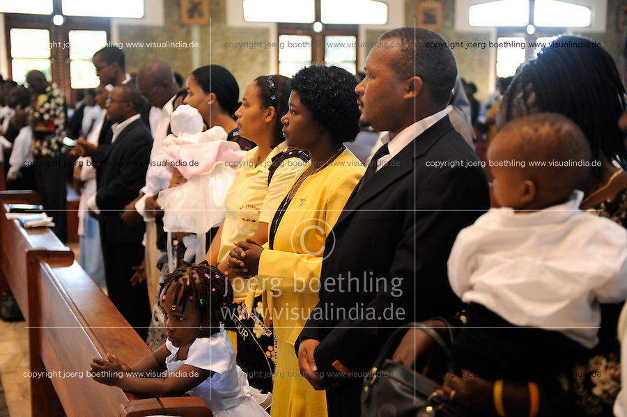 ZAMBIA Lusaka sunday mass in catholic cathedral at city center