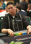 Bernard Lee is near the chip lead going into level 8 on Day 1A.