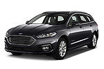 2019 Ford Mondeo Clipper Hybrid 5 Door Wagon angular front stock photos of front three quarter view