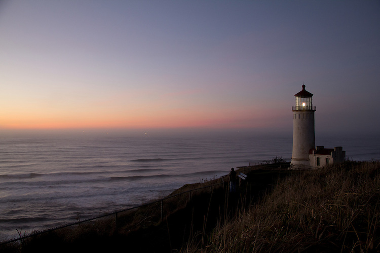 Cape Disappointment light, Columbia River, Washington State, Cape Disappointment State Park, Pacific Ocean,