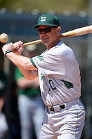 Slippery Rock head coach Jeff Messer (10) during practice before a game against the Wayne State Warriors on March 15, 2013 at Chain of Lakes Park in Winter Haven, Florida.  (Mike Janes/Four Seam Images)