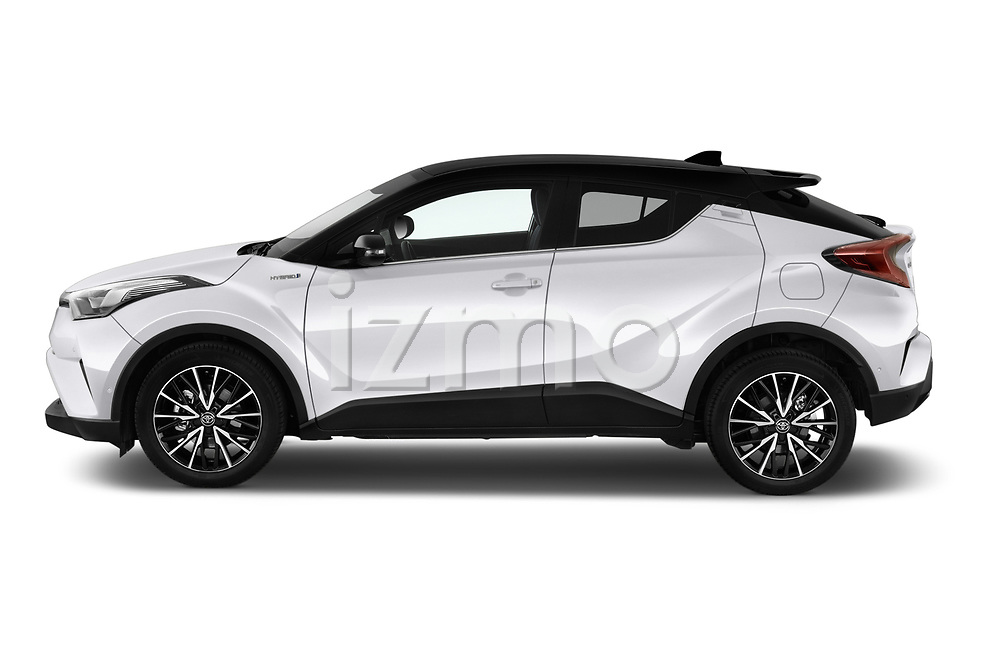 Car driver side profile view of a 2018 Toyota C-HR C-ULT 5 Door SUV