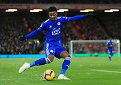 30th January 2019, Anfield, Liverpool, England; EPL Premier League football, Liverpool versus Leicester City; Demarai Gray of Leicester City fires a shot at goal