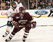 Mark Lutz (Vermont - 17), Matt Price (BC - 25) - The Boston College Eagles defeated the University of Vermont Catamounts 4-0 in the Hockey East championship game on Saturday, March 22, 2008, at TD BankNorth Garden in Boston, Massachusetts.