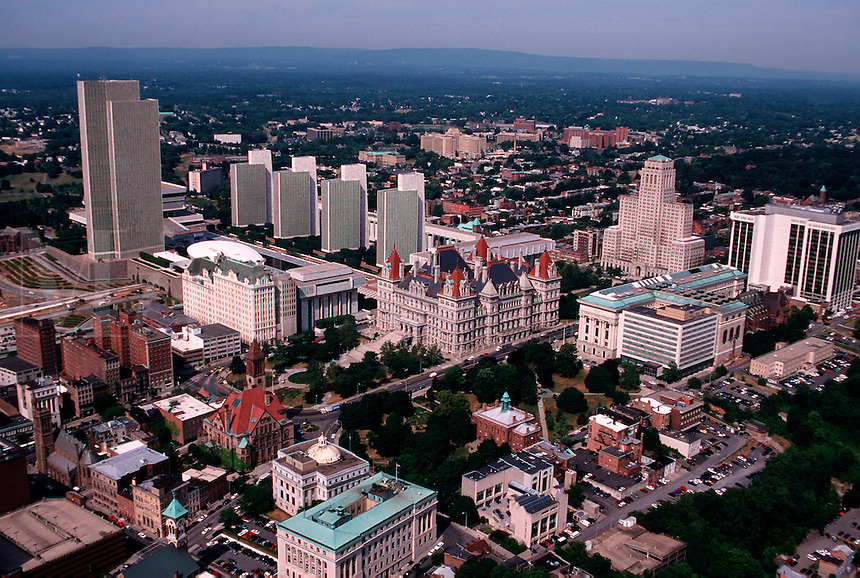 Aerial view of Albany, New York