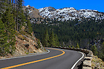 The road through Rocky Mountain National Park, Colorado, USA