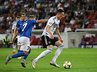 Julian Draxler (Deutschland, Germany) setzt sich gegen Sander Puri (Estland, Estonia) durch - 11.06.2019: Deutschland vs. Estland, OPEL Arena Mainz, EM-Qualifikation DISCLAIMER: DFB regulations prohibit any use of photographs as image sequences and/or quasi-video.