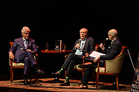 FORT LAUDERDALE FL - JUNE 12: Former U.S. President Bill Clinton, James Paterson and Brad Meltzer speak during 'The President is Missing' book tour at The Broward Center on June 12, 2018 in Fort Lauderdale, Florida. Credit: mpi04/MediaPunch