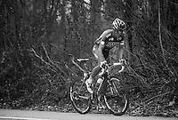 Liège-Bastogne-Liège 2013..Alberto Contador (ESP) attacking on the Côte de Colonster.