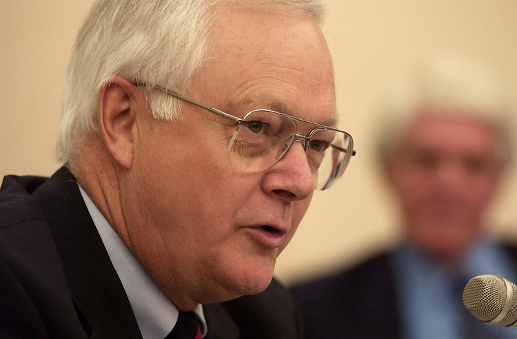 sherwood/042402 - Rep. Don Sherwood, R-Pa., asks questions at a Legislative Subcommittee hearing on FY03.