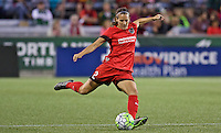 Portland, OR - Saturday July 30, 2016: Katherine Reynolds during a regular season National Women's Soccer League (NWSL) match between the Portland Thorns FC and Seattle Reign FC at Providence Park.