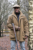 Clay pigeon shooting session with London Wasps player Christian Wade at E.J.Churchill Shooting Ground, Park Lane, Lane End, High Wycombe, Buckinghamshire, England on December 20, 2012.