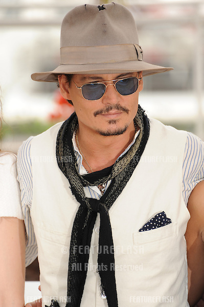"Johnny Depp at the photocall for his movie ""Pirates of the Caribbean: On Stranger Tides"" at the 64th Festival de Cannes..May 14, 2011  Cannes, France.Picture: Paul Smith / Featureflash"