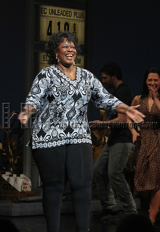 Kecia Lewis-Evans<br /> during the Broadway Opening Night Curtain Call for the 'Leap Of Faith' at the St. James Theatre on 4/26/2012 in New York City.